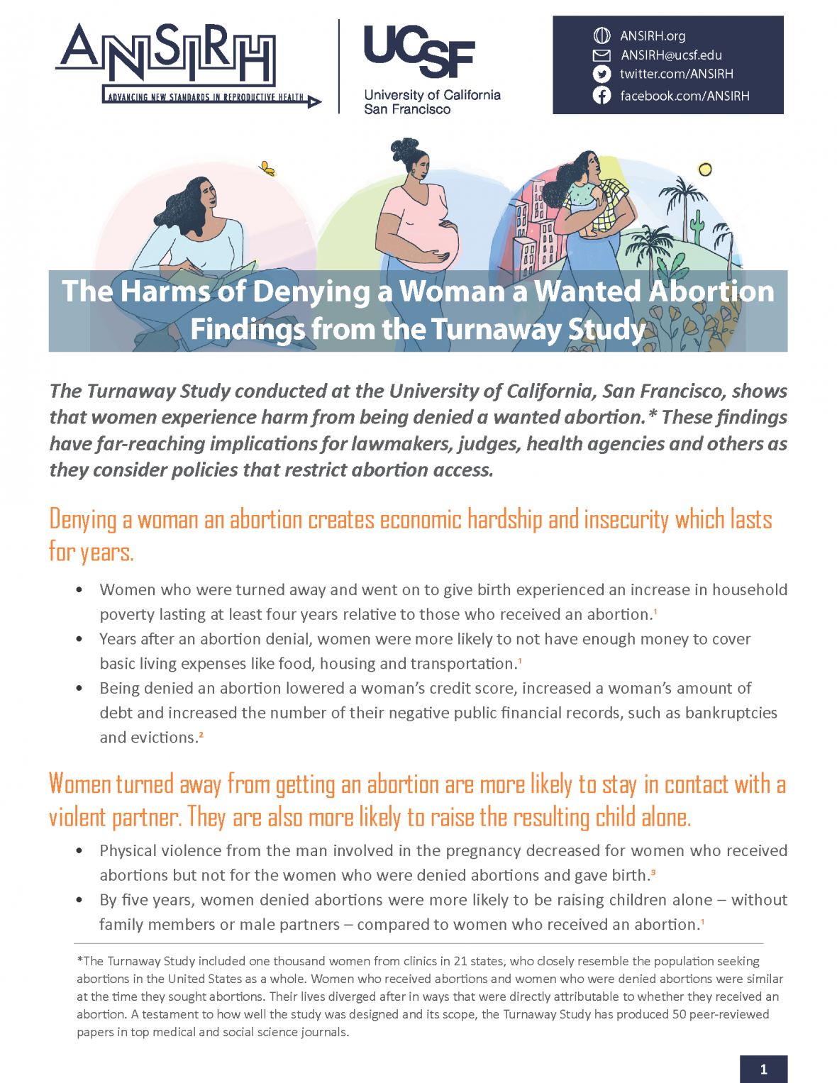 Factsheet on harms of denying someone a wanted abortion